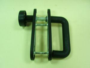 Дръжка + топка ISEO PY72 мм.за пожароустойчива брава.Черна.
