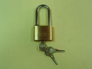 Катинар LOB KD51H68 с дълга скоба  месинг с 3 ключа автоматичен