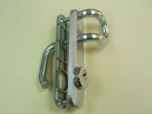 Дръжка  KABA секретна 90мм.със защита,цвят- сатиниран хром.