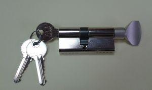 """Секретен патрон """"FAB""""30/35мм.Никел.С ръкохватка от дългата страна. С 3 ключа.С палец по ДИН"""