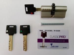 Секретен патрон CLASSIC-PRO 31/35 с голямо зъбно колело,никел,с 3 ключа.