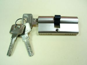 """Секретен патрон """"ЕЛИТ 2А"""" Никел.С 3 или 5 ключа.С палец по БДС или ДИН.Различни размери."""