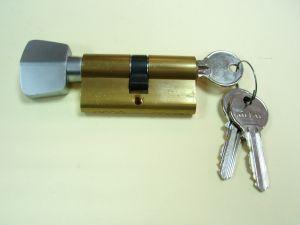 Секретен патрон МЕТАЛ 30/30мм. Месинг.С ръкохватка.С 3 ключа С палец по БДС.