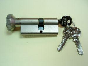 """Секретен патрон """"ISEO""""Никел.С ръкохватка .С 3 ключа. С палец по ДИН.Различни размери"""