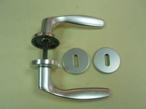 Дръжка GABRY розетка за обикновен ключ ф 50мм.сребро.