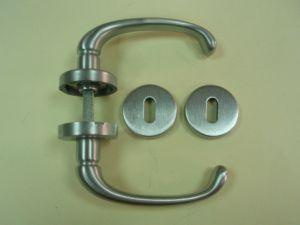 Дръжка ALEX розетка за обикновен ключ ф 45мм.сатиниран хром.Разпродажба.
