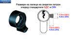 """Секретен патрон """"ЕЛИТ 2 """"R.L.Никел.С 3 или 5 ключа.С палец по БДС или ДИН.Различни размери."""