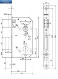 Брава MAUER секретна основна 70/50 мм.С никелирана челна планка.По БДС.